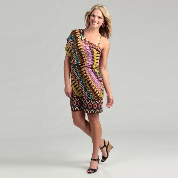 Emma & Michele Womens Purple One shoulder Dress   14204538
