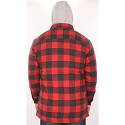 Farmall IH Men's Red Plaid Hooded Flannel Jacket - Thumbnail 1