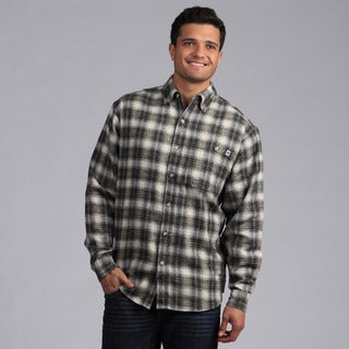 Farmall IH Men's Black/ Cream Plaid Flannel Shirt
