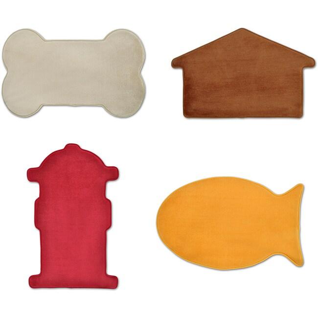 Shop Memory Foam Pet Shaped Mat Pack Of 2 Free