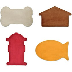 Memory Foam Pet Shaped Mat (Pack of 2)