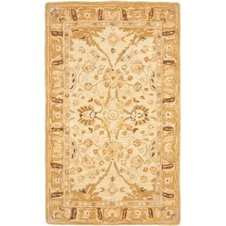 Safavieh Hand-made Ancestry Silver/ Light Brown Wool Rug (2' x 3')