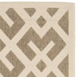 Safavieh Courtyard Contemporary Brown/ Bone Indoor/ Outdoor Rug (2'7 x 5') - Thumbnail 1