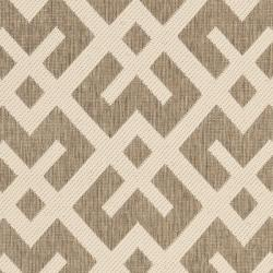 Safavieh Courtyard Contemporary Brown/ Bone Indoor/ Outdoor Rug (2'7 x 5') - Thumbnail 2