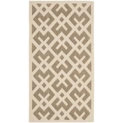 Safavieh Courtyard Contemporary Brown/ Bone Indoor/ Outdoor Rug - 2'7 x 5' - Thumbnail 0