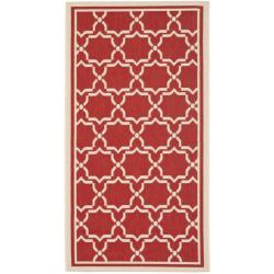 Safavieh Courtyard Poolside Red/ Bone Indoor/ Outdoor Rug (2'7 x 5') - 2'7 x 5'