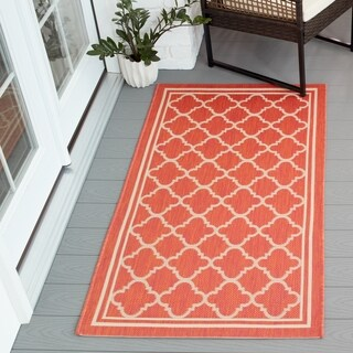 Poolside Terracotta/ Bone Indoor Outdoor Rug (2'7x5')