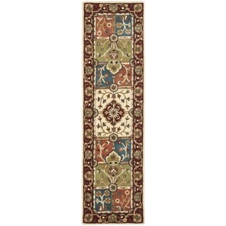 Safavieh Handmade Heritage Timeless Traditional Multi/ Red Wool Rug (2'3 x 12')