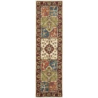 Safavieh Handmade Heritage Timeless Traditional Multi/ Red Wool Rug (2'3 x 12')