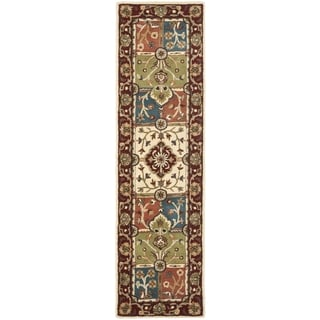 Safavieh Handmade Heritage Timeless Traditional Multi/ Red Wool Rug (2'3 x 6')