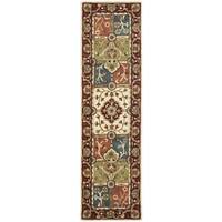 "Safavieh Handmade Heritage Timeless Traditional Multi/ Red Wool Rug - 2'3"" x 6'"