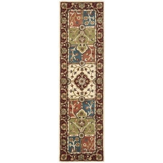 Safavieh Handmade Heritage Timeless Traditional Multi/ Red Wool Rug (2'3 x 8')