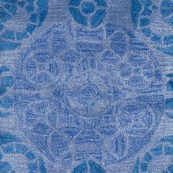 Safavieh Handmade Chatham Treasures Blue New Zealand Wool Rug (2'3 x 9') - Thumbnail 2