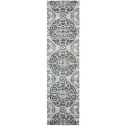 Safavieh Handmade Chatham Treasures Silver New Zealand Wool Rug (2'3 x 9')