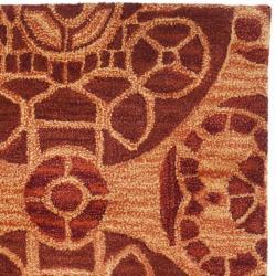 Safavieh Handmade Treasures Cinnamon New Zealand Wool Rug (2'3 x 9') - Thumbnail 1