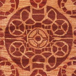 Safavieh Handmade Treasures Cinnamon New Zealand Wool Rug (2'3 x 9') - Thumbnail 2