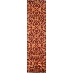 Safavieh Handmade Treasures Cinnamon New Zealand Wool Rug (2'3 x 9')