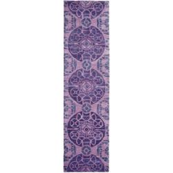 Safavieh Handmade Chatham Treasures Purple New Zealand Wool Rug (2'3 x 9')