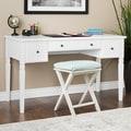 Maison Rouge Cami White 3-drawer Writing Desk