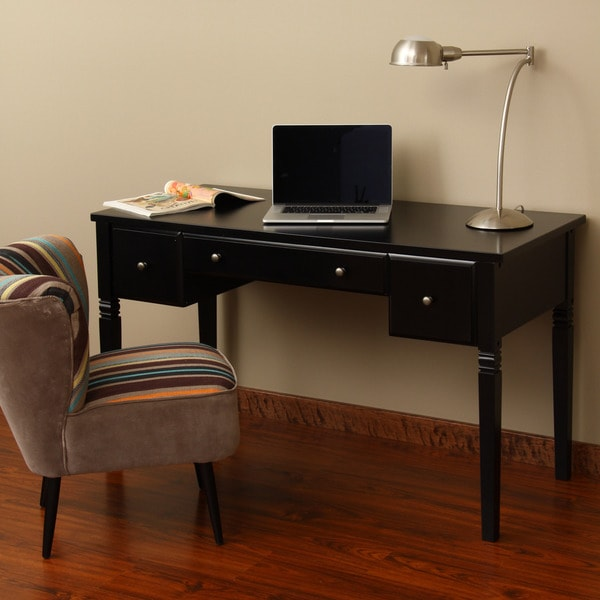 Cami Black 3 Drawer Writing Desk Free Shipping Today
