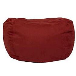 BeanSack Ultra Cinnabar Red Microfiber Suede Lounge Bean Bag Chair