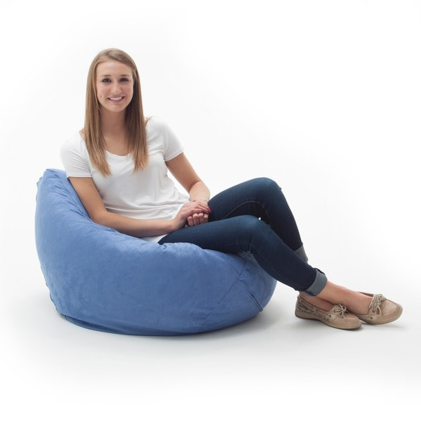 Shop Beansack Ultra Sky Blue Microfiber Suede Bean Bag