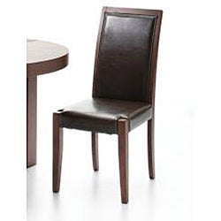 Shop Alexandra Cocoa Finish Dining Chairs Set Of 2