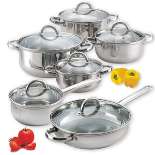Link to Cook N Home Stainless Steel 12-piece Cookware Set Similar Items in Kitchen Storage