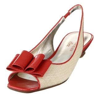 AK Anne Klein 'Jadon' Women's Bow Slingback Flats