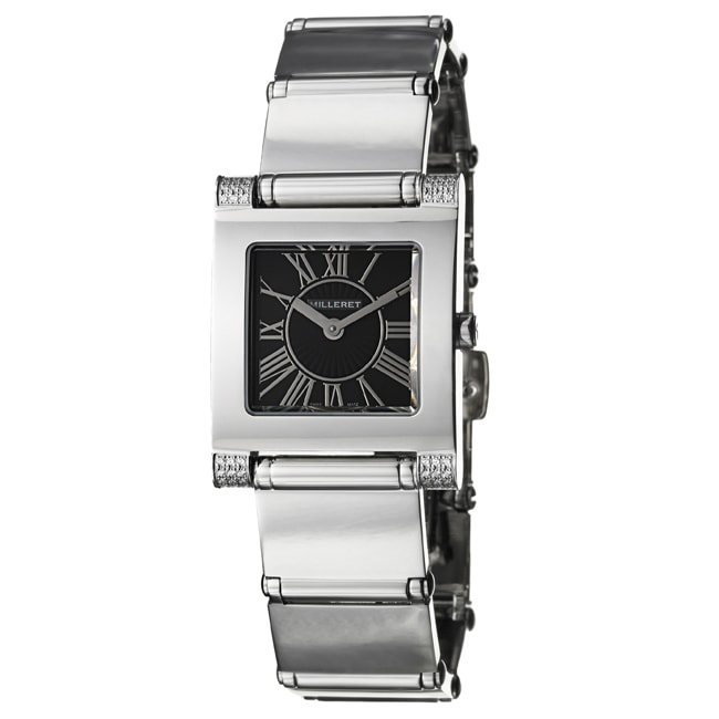Milleret Women's 'Classic' Stainless Steel Diamonds Watch