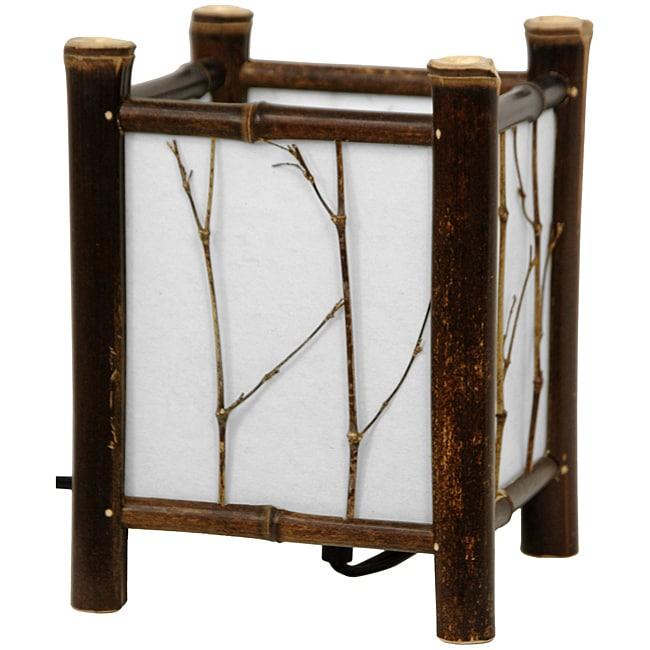 Handmade Dark Watashi Japanese-Style Table Lamp (China)