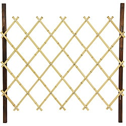 Handmade Natural Diamond Bamboo 3-foot Fence (China)
