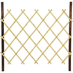 Handmade Handmade 3' Natural Diamond Bamboo Fence