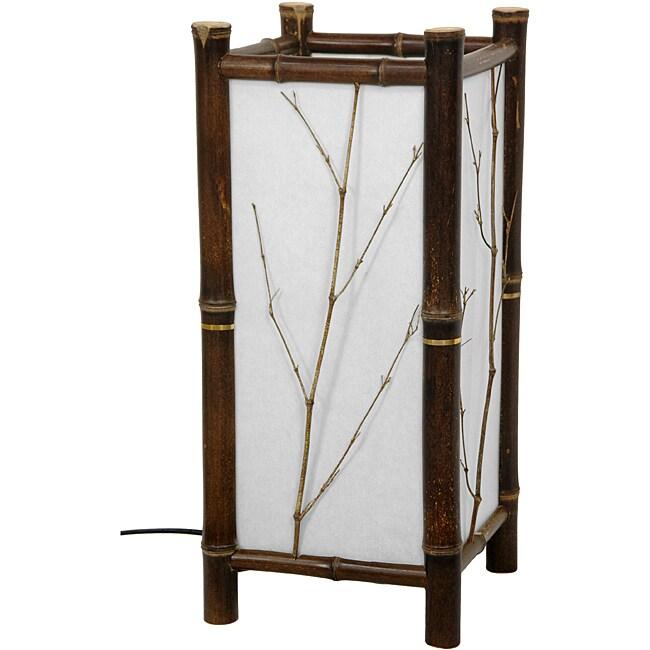 Handmade Dark Hayashi Japanese Table Lamp (China)
