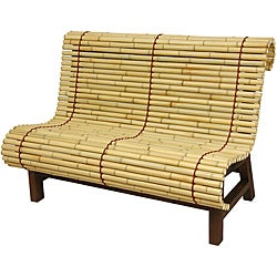 Curved Japanese Bamboo Bench (China)