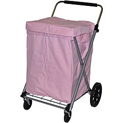 Easy Wheels Pink Canvas Cart