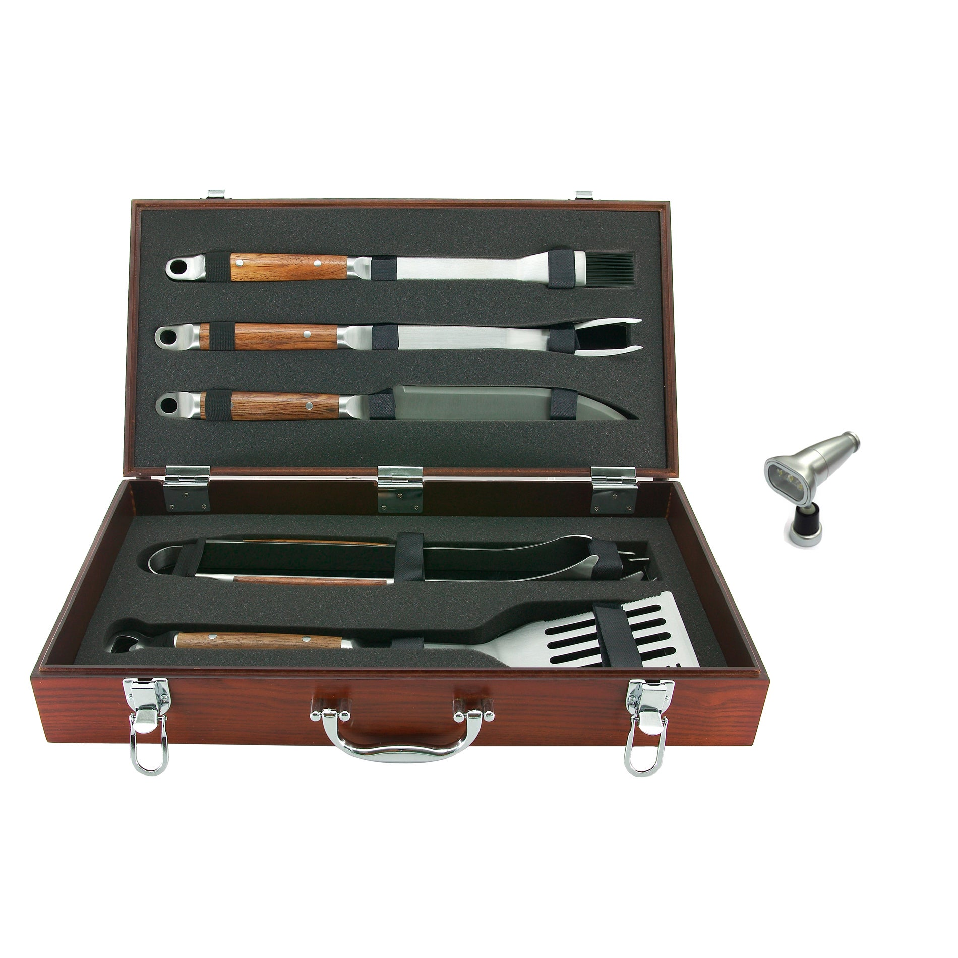 Mr. Bar-B-Q 5-piece Stainless Steel Grilling Tool Set with Magnetic Light