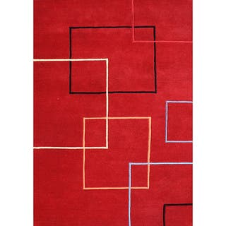 Alliyah Handmade Andy Red New Zealand Blend Wool Area Rug (9' x 12')|https://ak1.ostkcdn.com/images/products/6641849/P14204948.jpg?impolicy=medium