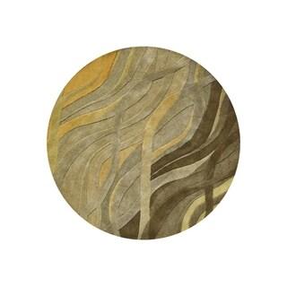 Alliyah Handmade Green New Zealand Blend Wool (6' Round)