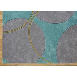 Alliyah Handmade Rings and Circles New Zealand Blend Wool Rug (6' x 6')