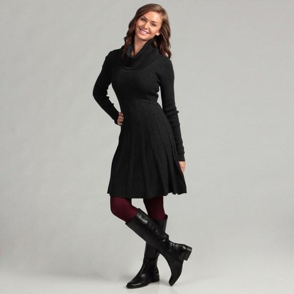 Calvin Klein Women's Charcoal Sweater Dress