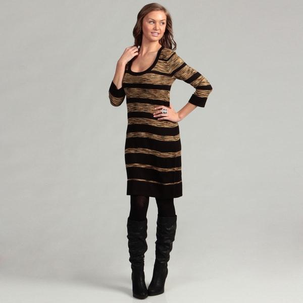 Calvin Klein Women's Striped Sweater Dress