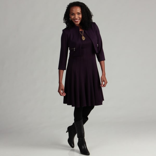 Jessica Howard Women's Cropped Jacket Dress