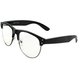 Unisex P9068CLBKCL UV400 Black/Clear Studded Retro Plastic Sunglasses