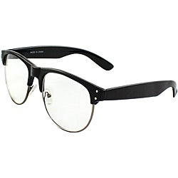 Unisex P9068CLBKCL UV400 Black/Clear Studded Retro Plastic Sunglasses