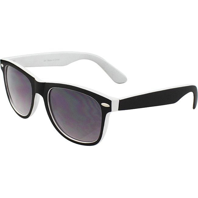 Unisex Fashion Black/ White Sunglases