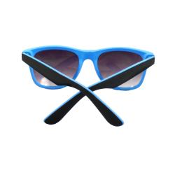 Black/Blue Plastic-frame UV-400 Purple/Black Lens Fashion Sunglasses - Thumbnail 1