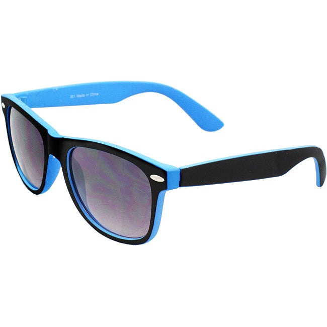 Black/Blue Plastic-frame UV-400 Purple/Black Lens Fashion Sunglasses