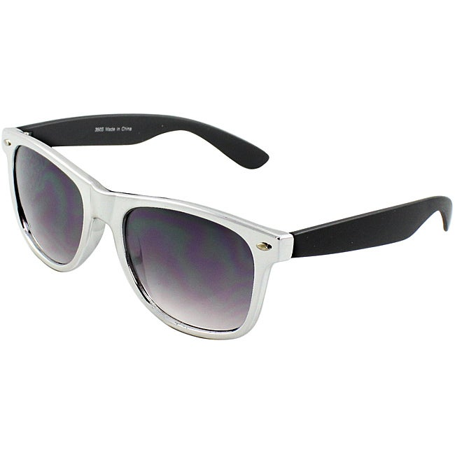 Unisex Black/ Silver Sunglasses