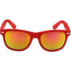 Unisex Red Fashion Sunglasses with UV Protection